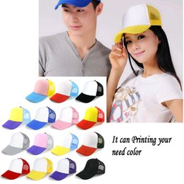 Wholesale Adult baseball caps Customized candy color Net caps pictures printing advertisement hats snapback baseball cap Peaked hat