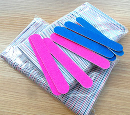 Professional 100pcs 180 240 grit Professional Nail Files nail Buffer Buffing Slim Crescent Grit nail tools disposable nail file