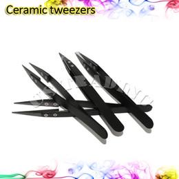 Mejor rba en venta-Pinzas de cerámica recta o punta de doblez Pinzas Material Cerámico Mejor termoestabilidad para DIY e cigarrillos RDA RBA Atomzier Coil