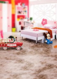 Wholesale 200CM CM backgrounds Cartoon call home convertible toy model car furry cute delicate red photography backdrops photo LK