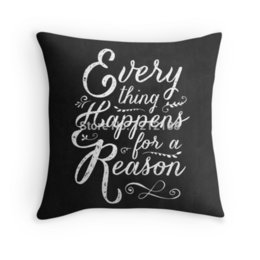Wholesale popular Everything Happens for a Reason two sides printed x16 x18 x20 x24 Inch cushion throw pillow case