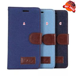 Wholesale Jean Pants Cowboy Wallet Leather case Cloth TPU Stand Credit Card Pouch Hybrid Holder Pocket For Huawei Ascend P8 Mate skin luxury
