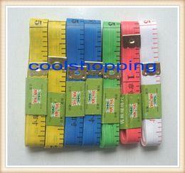 500pcs DHL Free shipping Body Tape Measure Length 150Cm Soft Ruler Sewing Tailor Measuring Ruler Tool Kids Cloth Ruler