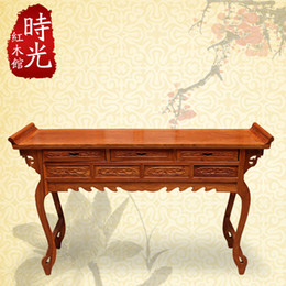 Wholesale Rosewood wood altar reads a few pieces of antique furniture classical Chinese text console table Alice head case mahogany desk