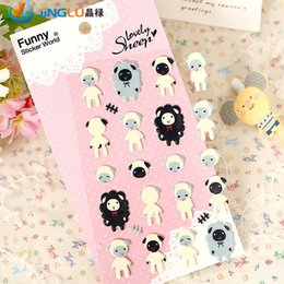 Wholesale Pack Funny Korea Sent Straight Three Dimensional Foam Decorative Stickers Cute And Lamb
