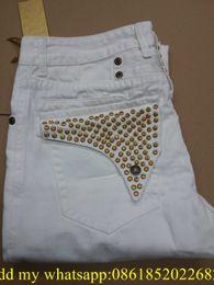 Wholesale 2015 New robin jeans men Slim denim Straight in Jeans cowboy high fashion designer famous brand mens white blue jeans szie