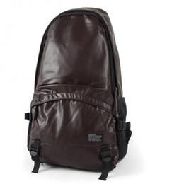 -Man Bag Sac de voyage Sac à dos en cuir PU Noir solide Sac à bandoulière en couleur Sac à dos Zipper Sac décontracté à partir de hommes bruns sacs à dos fabricateur