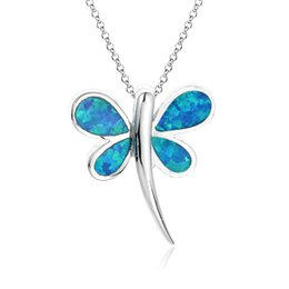 Wholesale butterfly opal pendant fit opal necklaces made of sterling silver blue opal jewelry No90 FP341