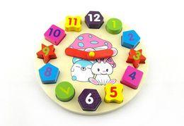 2017 reloj digital de la geometría Reloj de madera del conejo de la historieta de los juguetes educativos de la entrega Al por mayor-Libre, reloj digital de la geometría, juguetes educativos de los rompecabezas de los niños descuento reloj digital de la geometría