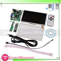 Wholesale Tontec quot Raspberry Pi LCD Touch Screen Display TFT Monitor AT070TN90 with Touchscreen Kit HDMI VGA Input Driver Board