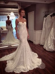 2015 Lace Wedding Dresses with Straps Sweetheart Spaghetti Strap Backless Wedding Dress Cheap Wedding Gowns Beach Mermaid Wedding Dresses