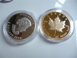 Wholesale Mixed different Australia Maple Leaf Gift Canada Maple Leaf Silver Gold plated Souvenir Coins