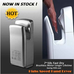 Wholesale CE RoHs UL Bathroom High Speed Automatic Jet Air Hand Dryer Hotel Hand Dryer With Brushless Motor