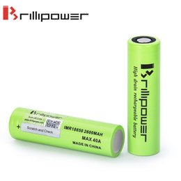 Wholesale Batteries Authentic mah Ecig Battery A Brillipower IMR High Discharge Rate E cig Battery lithium Cells High Drain