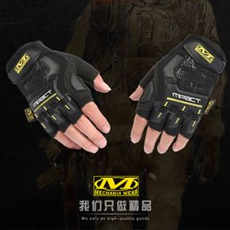 Wholesale Cycling gloves Outdoor sports and leisure spring and autumn climbing racing special forces tactical protect semi finger baseball gloves