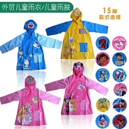 Wholesale Children s Raincoats Kids Boys Girls Rainwear Cartoon Lovely Rain Coat Boy Girl Cute Baby Rainsuit Jacket EMS DHL J3278