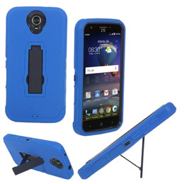 2016 New Free Shipping Heavy Duty For ZTE N817 Cell Phone Case Silicone+PC Anti-skidding and Anti-knock With Kickstand 2 in 1 case