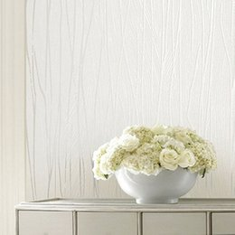 Wholesale Contemporary Vertical Stripes Non woven Wallpaper D Flocking Pink silver rice yellow and whiteWallpaper