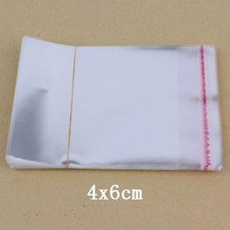 600 PC / lot venden al por Claro Poly Bolsas 4x6cm auto-adhesivo bolsa transparente del colector de moneda pequeña OPP bolsas de plástico desde pequeñas bolsas de plástico adhesivo transparente fabricantes
