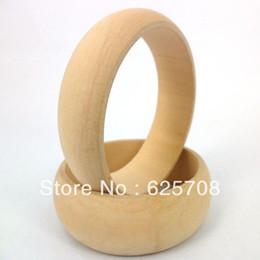 Wholesale 6 cm Inner Diameter DIY Unfinished Natural Good Raw Wooden Bangle Wide Bracelet SMT