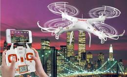 Promotion drones de caméras aériennes Appareil photo Drones AERIAL X6SW Avion Aérien Sports Caméra Avion quatre axes Mobile wifi Télécommande FPV transmission en temps réel figure 705C
