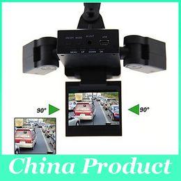 Cámaras de lentes de porcelana en Línea-Nuevo Dual dos lentes DVR cámara grabadora de cámara de visión nocturna vehículo de vídeo H303 dvr grabadora de vídeo 010224