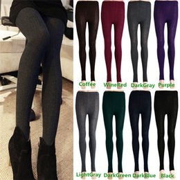 Wholesale Hot Sales Women s Ladies Leggings Stretch Thick Stirrup Pants Winter Warm Skinny Slim Cotton Blend KX57