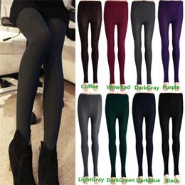 Wholesale Hot Sales Women s Ladies Leggings Stretch Thick Stirrup Pants Winter Warm Skinny Slim Cotton Blend KX57