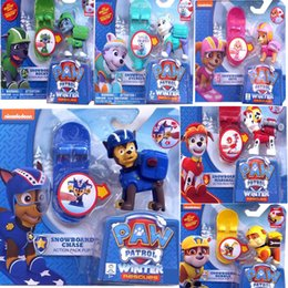 Wholesale 2016 Patrol Dog Toys quot Kids Skateboard Puppy Dog Patrol Cartoon Action Figures Patrulla Canina PVC Toys for Children Best Gifts