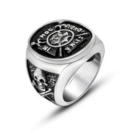 Men's Stainless Steel Pirate Skull Signet Ring