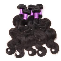 Peut teindre remy extensions de cheveux en Ligne-5pcs brésilien corps Wave cheveux trame grade 7a non transformés peuvent être teints cheveux Weave Brésilien malaisien péruvien indien Remy cheveux humains extension
