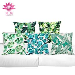 muchun Brand Thicken Pillow Case Green Leaves 2017 New Arrival 45*45cm Christmas Cotton Linen Home Textiles Sofa Throw Pillow Cover