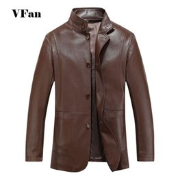 Men PU Leather Coat Casual Motorcycle Leather Jacket Coat Standing Collar Long Sleeve Windproof Waterproof Jacket Z1903-Euro