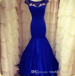 Wholesale A link for customer samuel berko prom Dresses Evening Prom Dresses With Crystal Lace Appliques Sheer Neck Bridal Party Red Carpet
