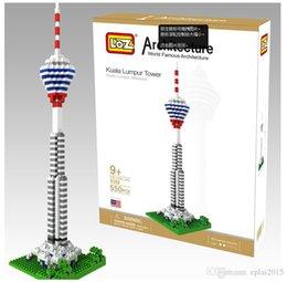 Wholesale LOZ World Architecture Kuala Lumpur Tower Model Malaysia Building Blocks Toy