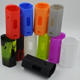 Silicio w en Línea-RX200 TC silicio bolsa de goma colorida de la manga protectora de la cubierta del gel de silicona de la piel para Wismec RX 200 W TC Mod DHL FJ652
