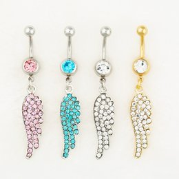 Wholesale 0551 body jewelry Nice style Navel Belly ring mix colors stone drop shipping factory price