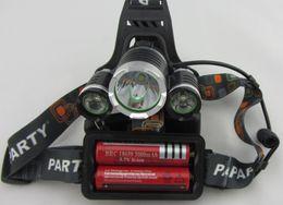 Wholesale Boruit x XM L T6 LED Lm Headlight Lampe Frontale Head Torch HeadLamps Lanterna Ac Car Charger V mAh Battery