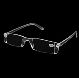 Wholesale Men Women Clear Reading Glasses Transparent Plastic Rimless Presbyopia Pocket Reader RX Optic Glasses for Aging People Diopter