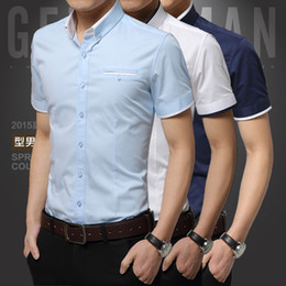 Wholesale Men shirt men s clothing Christmas Newest Mens Candy Slim Fit Luxury Casual Stylish Dress Shirts Colours Sizes