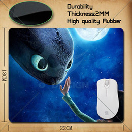 Wholesale Hot Many Design how to train your dragon Anti slip Mousepad Computer Mouse Pad Mat in mm
