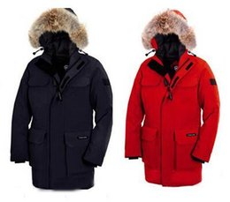 Wholesale best selling New product Canada Hot cakes Men s High quality cold resistance Down jacket PARKA keep warm Down Parkas Outerwear