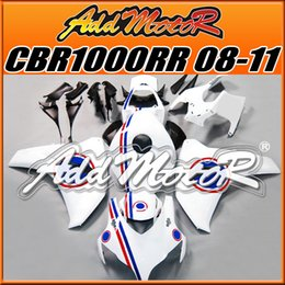 Wholesale Addmotor Injection Mold Aftermarket Fairings Fit Honda CBR1000RR CBR RR Body Kit Hot Sell White H1827 Five Free Gifts