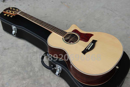 Wholesale Musical Instruments Nature color Solid Spruce Top CE Model Acoustic Guitar High quality Accept customised