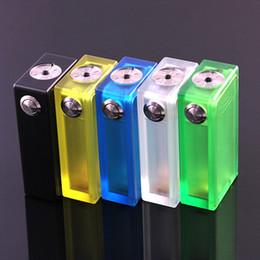 Wholesale Best ABS V2 Box Mod Acrylic Clear Color Box Mechanical mods Colorful Light Vapor ABS V2 E Cigarettes mod VS Dimitri Box Clouper Mod DHL Free