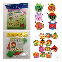 Wholesale Handmade Eva Pen Holder Eva Foam Craft Kits Kids DIY Container for Pens Educational toys for Children 18pcs lot