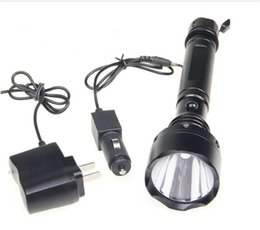 Wholesale Super Bright Meter Lumen Tactical CREE Q5 LED Flashlight Torch AC DC Charger Rechargeable Outdoor Portable Fashlight from flymall