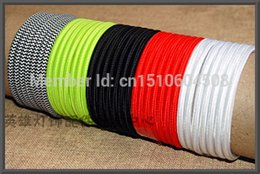 Wholesale-Free shipping Vintage multicolour knitted electrical wire pendant light twin cord cloth knitted electrical wire lamp cord wire