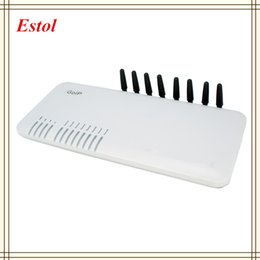 Wholesale Channels DBL GOIP8 GSM VOIP gateway for termination Support VPN IMEI change SMS SIM Card eight ports sip gateway