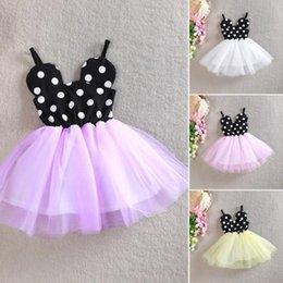 Wholesale New Summer fashion Princess Baby Girls Sleeveless Braces Cotton Gauze Polka Dot Dress